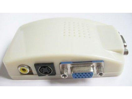 Převodník signálu z PC ->TV cinch + s-video konektory