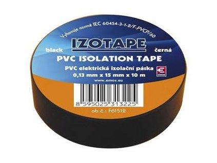 Izolační páska na kabely PVC 15/10 černá