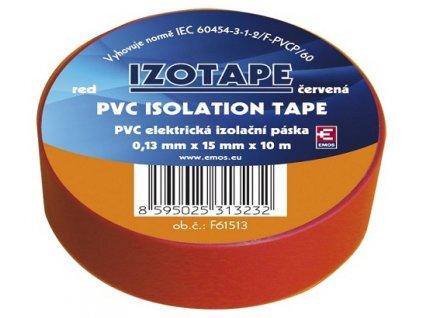 Izolační páska na kabely PVC 15/10 červená