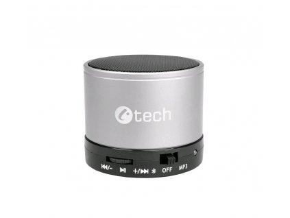 C-TECH SPK-04S Bluetooth reproduktor, stříbrný