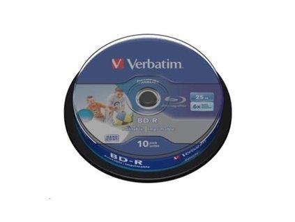Verbatim BD-R LSL 25GB Printable, 10ks cakebox