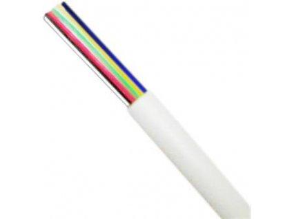 DATACOM Telefonní kabel 6-žilový lanko - bílý - metráž 1m