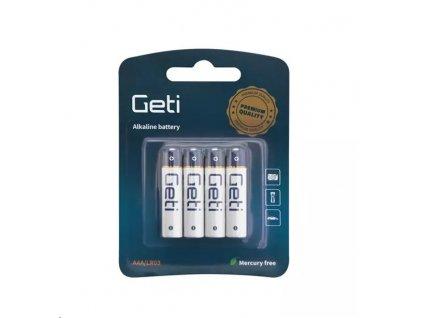 Baterie AAA (LR03) alkalická Geti 1,5V blistr 4Ks
