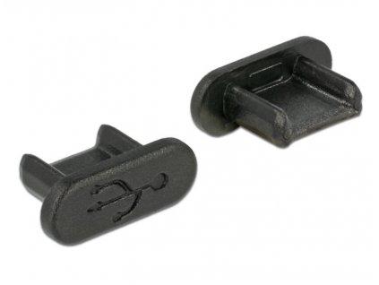 Delock Prachová záslepka pro USB 2.0 Micro-B samice bez uchopení 10 kusů černá