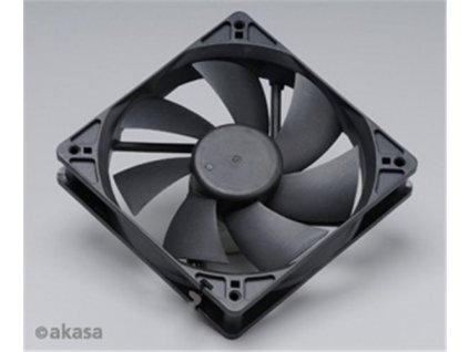AKASA 120m ventilátor, černý, OEM