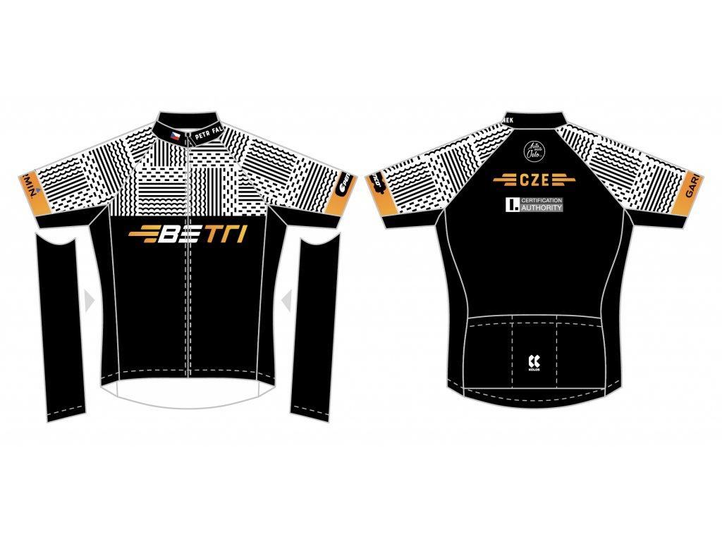 Pánský cyklistický dres BETRI  s krátkým  rukávem PRO 29 | Razor