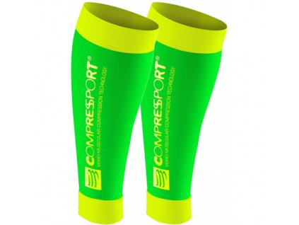 sleeves compressport calf r2 fluo green