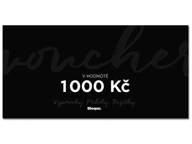 Bloque. Darkovy poukaz na 1000 Kc