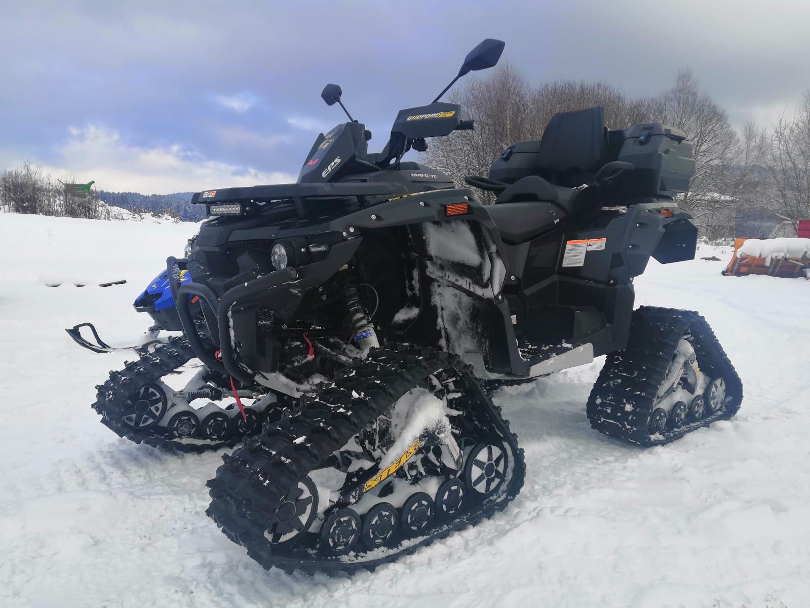 Stels na sněhu