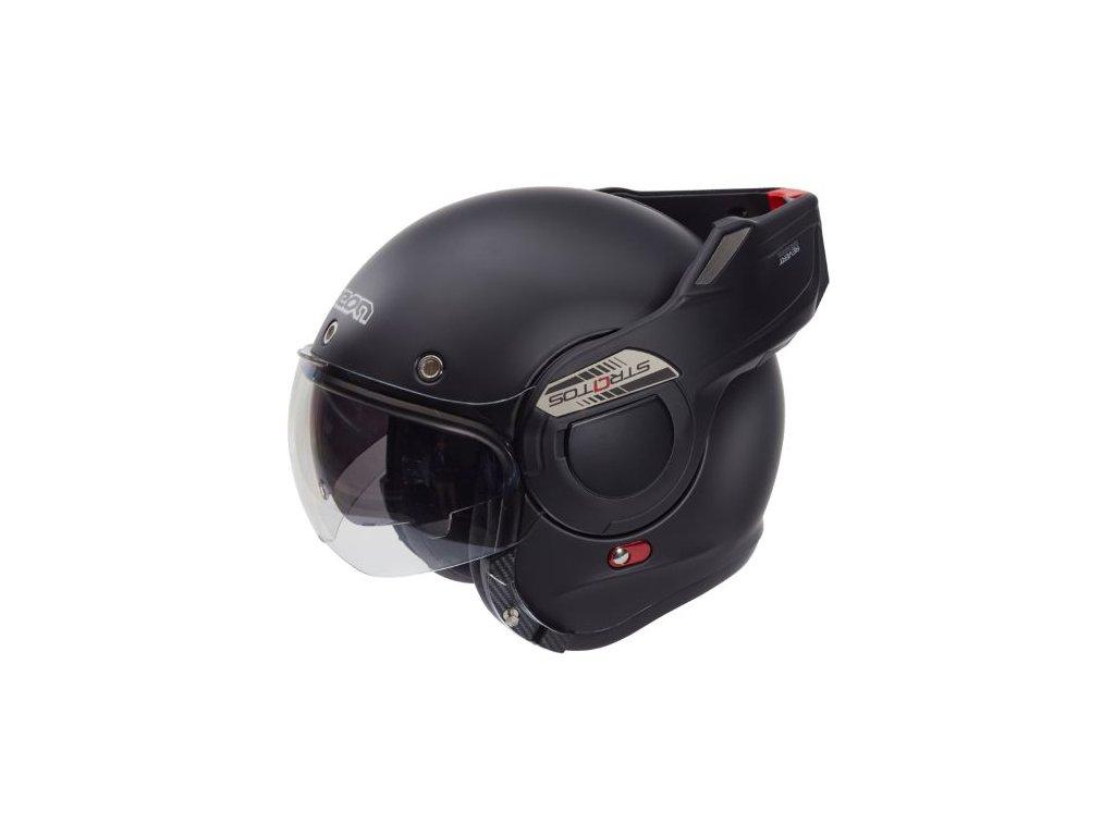 helm beon b707 stratos mat zwart maat s 82879 en G
