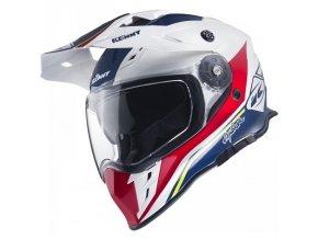 Přilba Kenny Explorer 17 - Modrá/Bílá/Červená