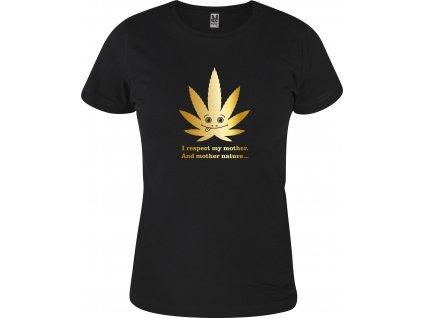 """Dětské triko """"mother nature gold"""""""