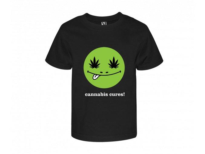 """Dětské triko """"Cannabis Cures"""""""