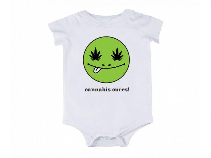 """Dětské body """"Cannabis Cures"""""""