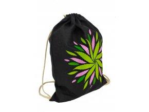 Bavlněný batoh - mandala fialová