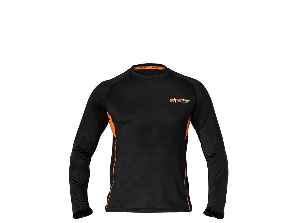 Triko Extrifit pánské E05 (dlouhý rukáv) (Barva oblečení Černá, Velikost XL)