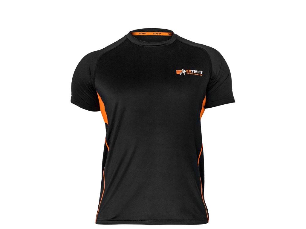 Triko Extrifit pánské E03 (Barva oblečení Černá/oranžová, Velikost XXL)