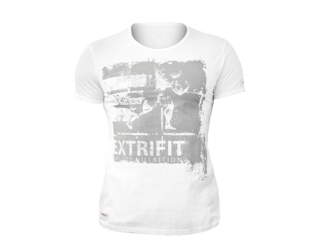 Triko Extrifit pánské 04 (Barva oblečení Bílá/šedá, Velikost XL)