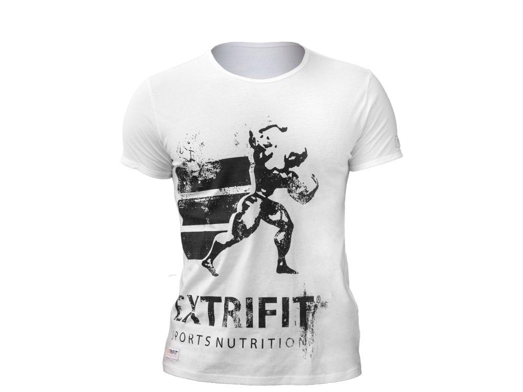 Triko Extrifit pánské 06 (Barva oblečení Bílá/černá, Velikost XL)