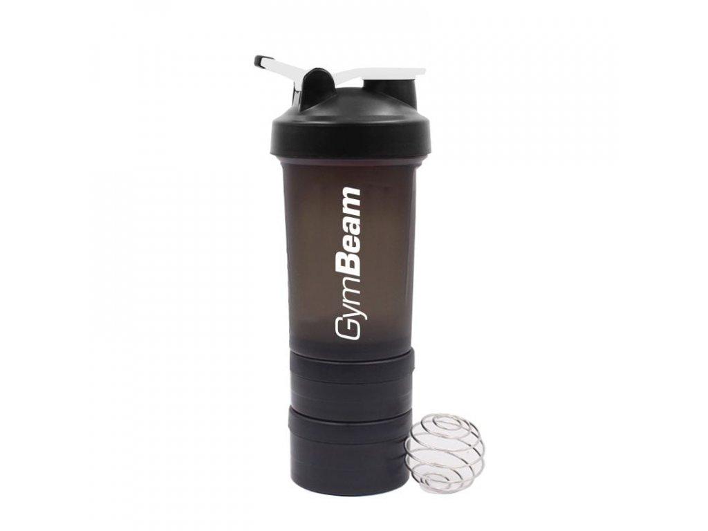 Vícedílný šejkr Blend Bottle Black White - GymBeam