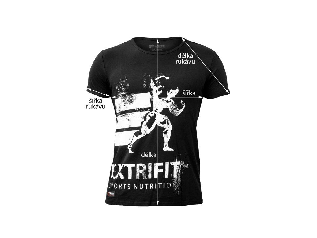 Triko Extrifit pánské 27 (Barva oblečení Černá/bílá, Velikost XL)