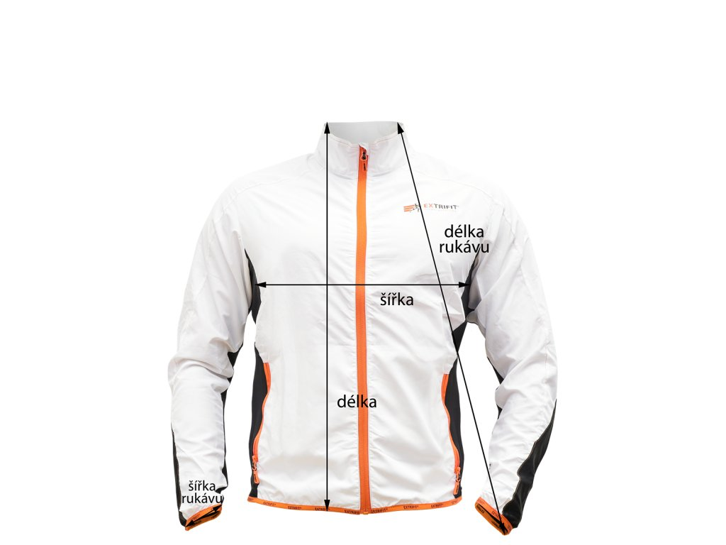 Bunda Extrifit pánská 45 (Barva oblečení Bílá, Velikost XXL)