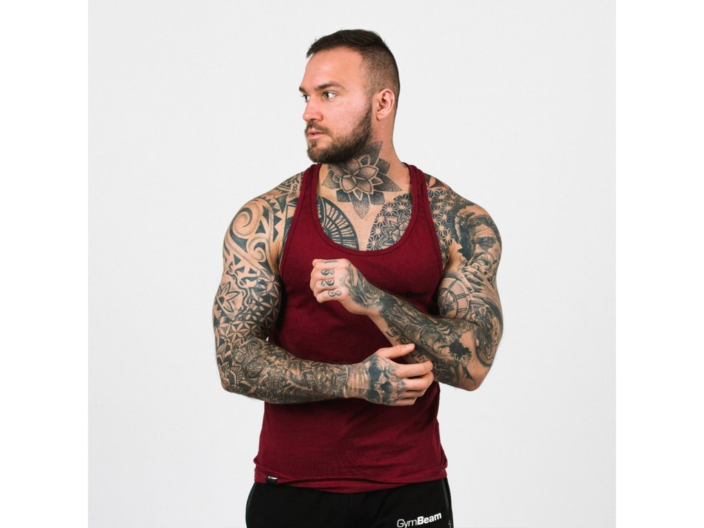 Tílko Stringer Tank Top Burgundy - GymBeam