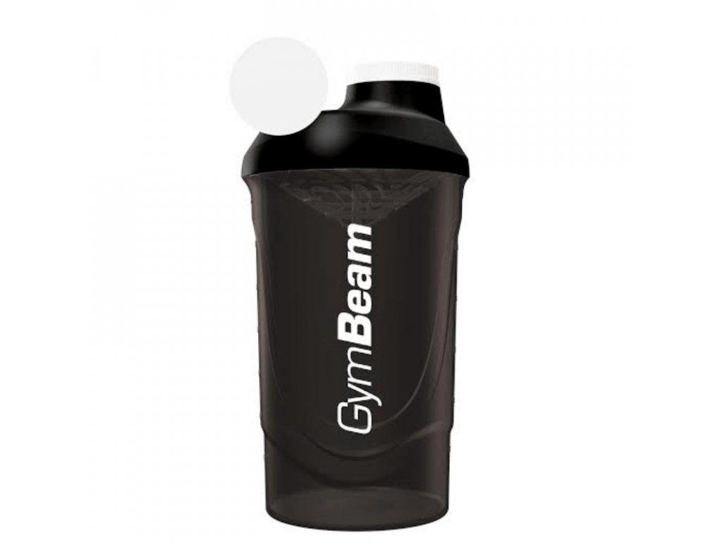 Šejkr černý 600 ml - GymBeam