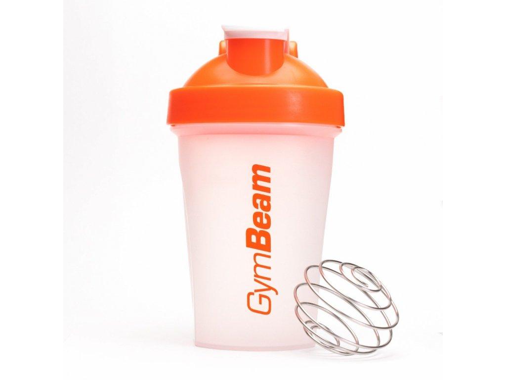 Šejkr Blend Bottle průsvitně-oranžový 400 ml - GymBeam
