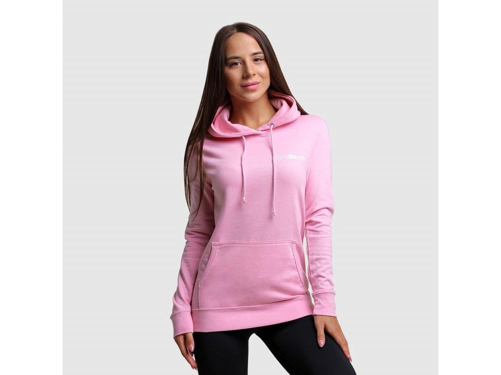 Dámská mikina PRO Hoodie Baby pink - GymBeam