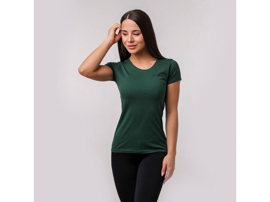 Dámské tričko Basic Green - GymBeam