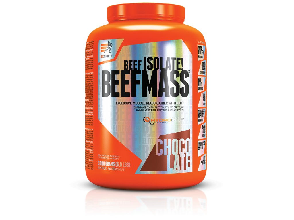 BeefMass® (Balení 3000g, Příchuť Vanilka-karamel)