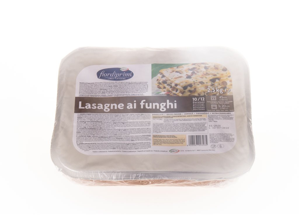 Lasagne Ai Funghi 2,5 Kg Mražené Surgital (V103)