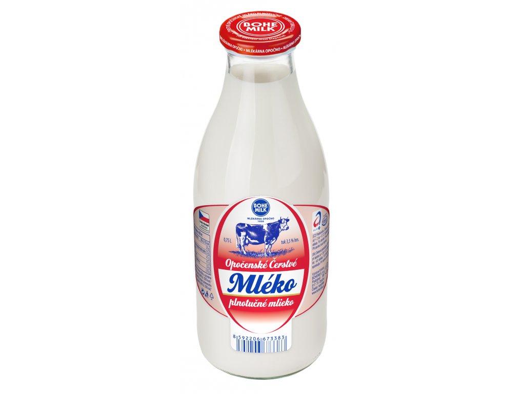 Opočenské Čerstvé Mléko plnotučné, 750 ml