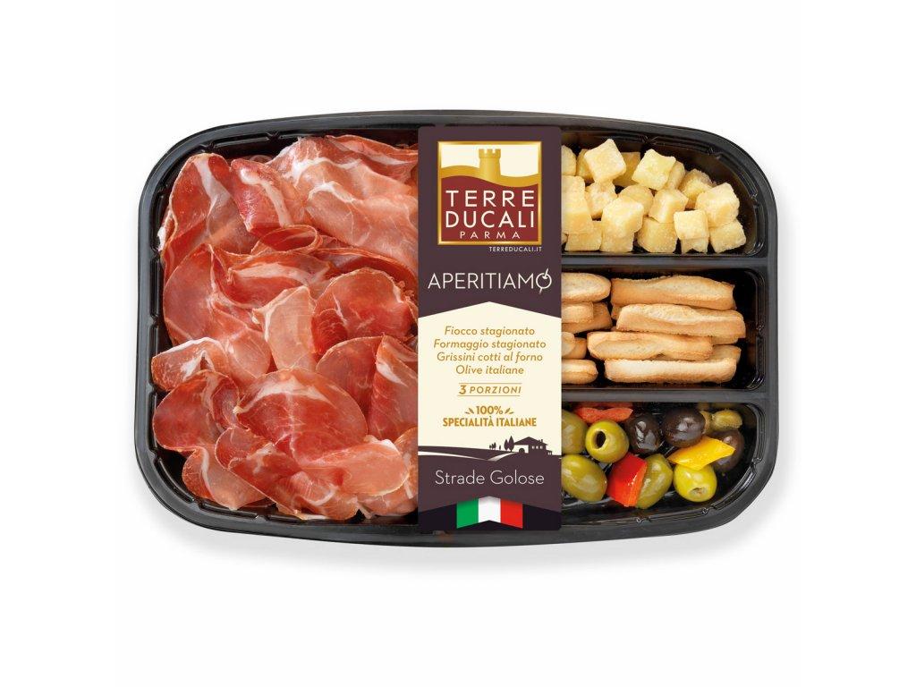 2AFAPEF Aperitiamo Fiocco ham, cheese, breadsticks and olives