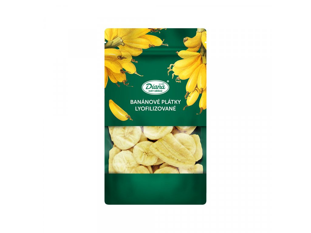 Bananove platky lyofilizovane 55 g diana company