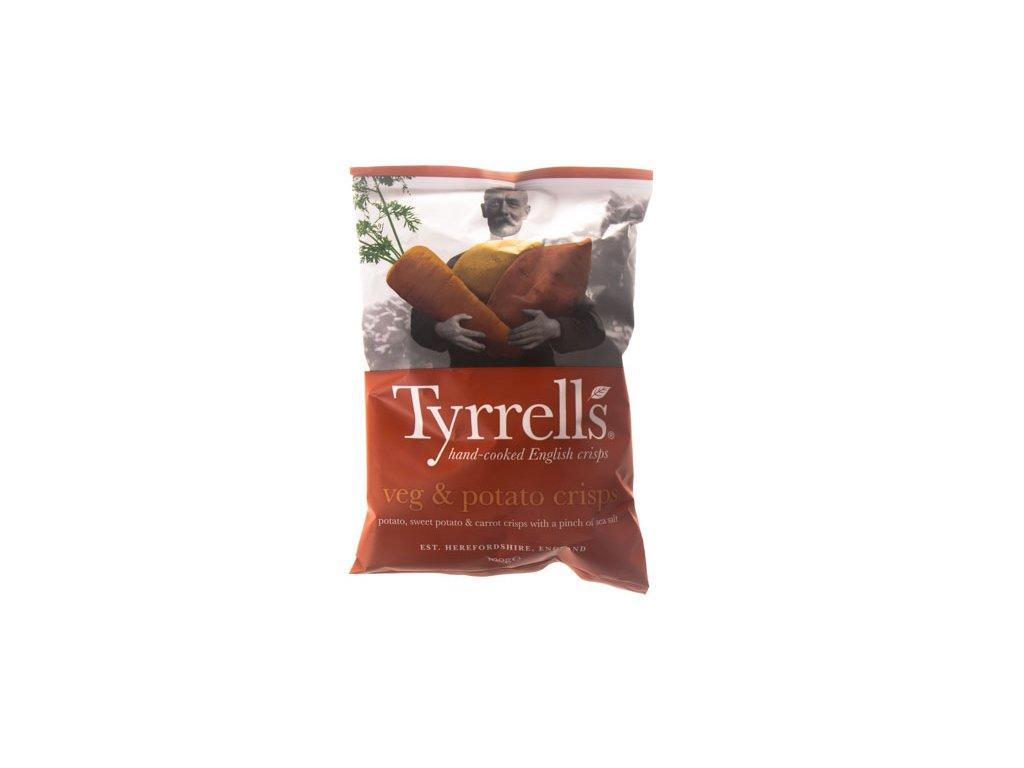 Tyrrells Chipsy Zeleninové Veg Crisps 100G  Patata, Carota