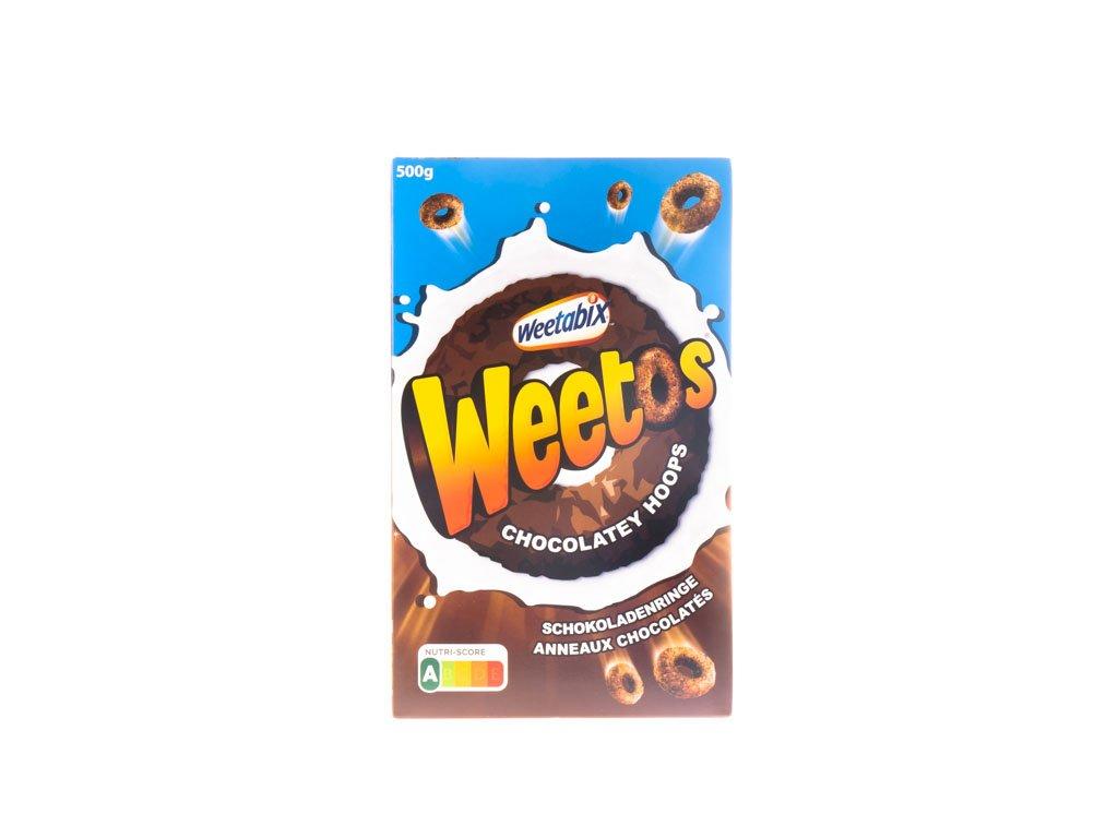 Weetabix Weetos Chocolatey Hoops 500G (Čoko Kolečka)