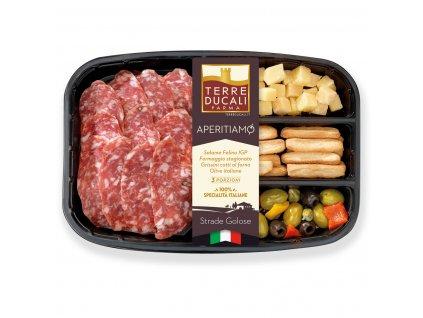 2AFAPESF Aperitiamo Felino salami, cheese, breadsticks and olives