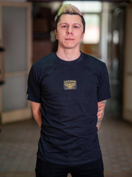 Černé pánské triko s nášivkou