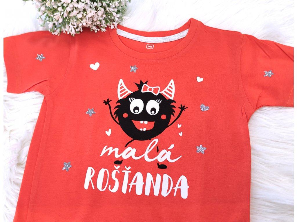 BAREVNÍ ROŠŤÁCI Orange - Tričko pro holčičku vel.98
