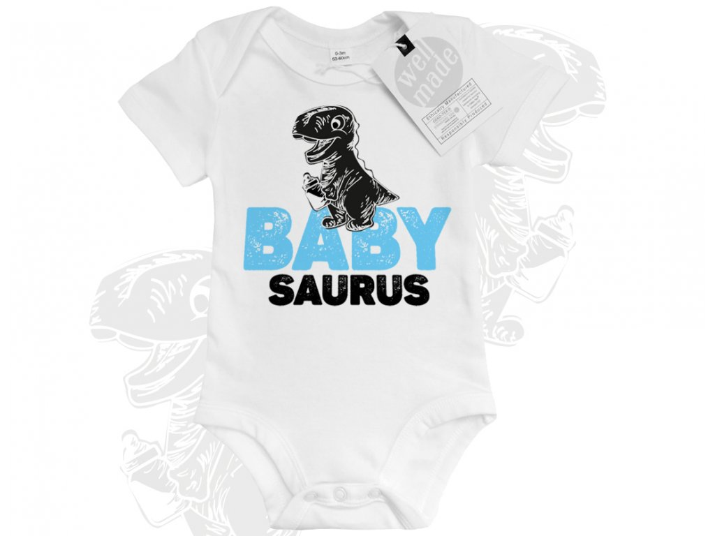 dinosauri babysaurus svetle modry colordot