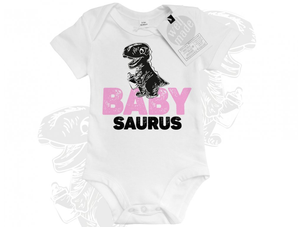 dinosauri babysaurus svetle ruzova colordot