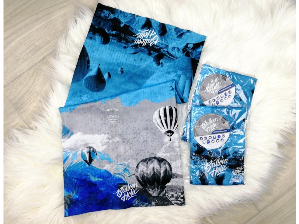 MODRY multifunkcni satek balony