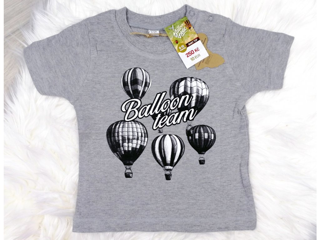 sede tricko s balony