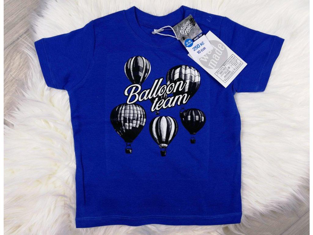 kralovskamodra triko s balony