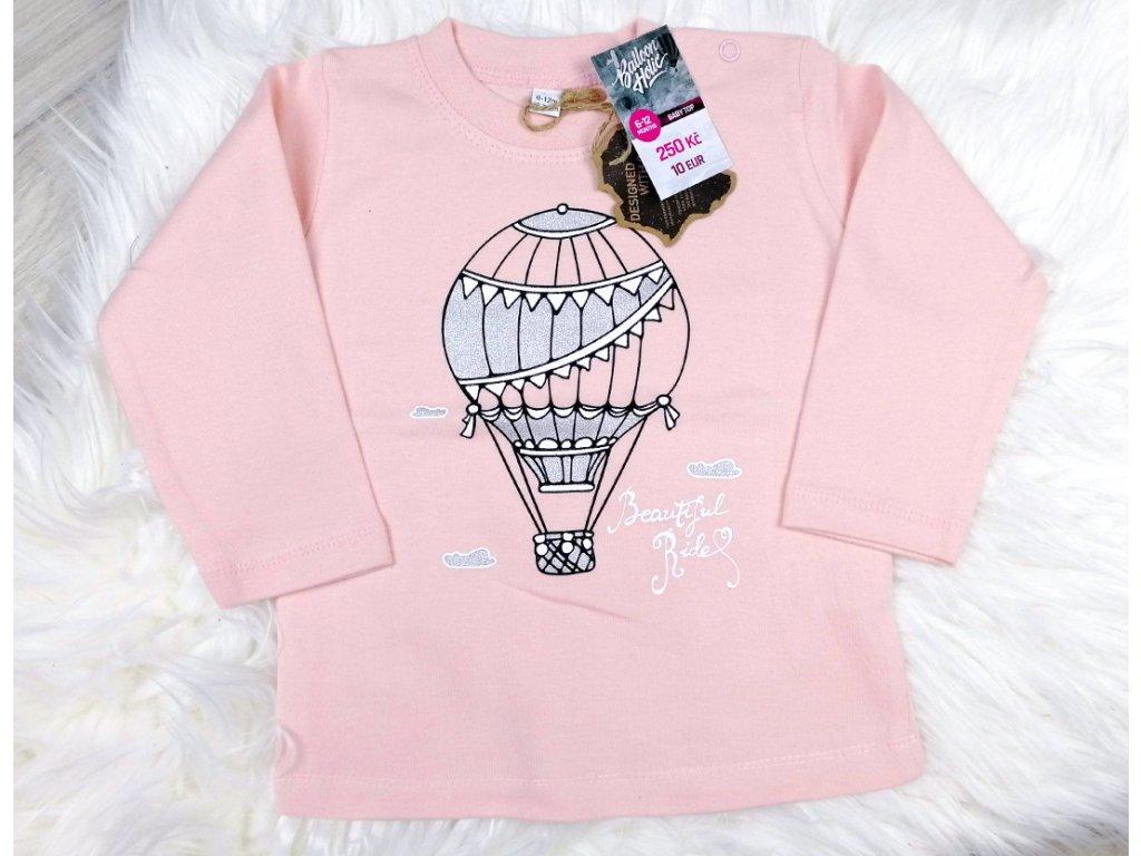babypink tricko s balony