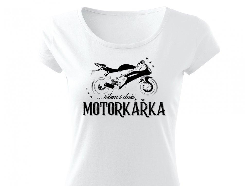 motorkarka damske tricko colordot