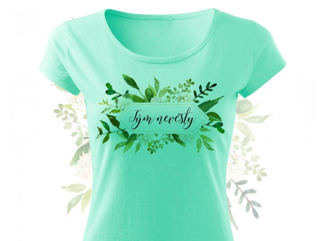 zeleny set tym nevesty matova colordot
