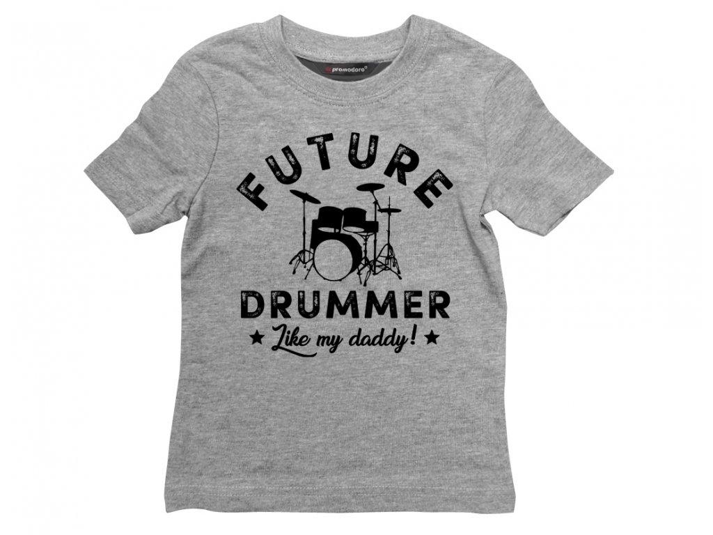drummer bubenik sede triko detske colordot